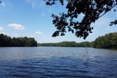 Niebieski szlak rowerowy: Duża pętla mrągowska;Jezioro Mały Wągiel